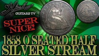 SILVER STREAM #169 - 1858 0 SEATED LIBERTY HALF DOLLAR + GOLD AND SILVER