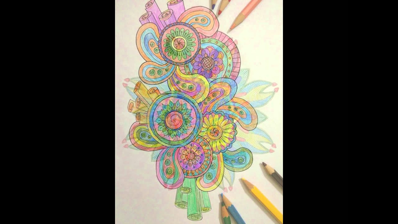 Adult Coloring Book Flower Design Creative Inspirations Bring Balance