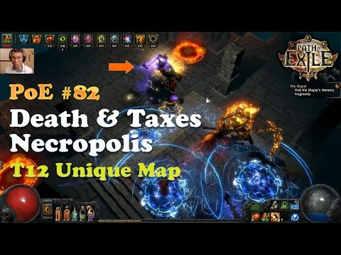 [Path of Exile] Death and Taxes Necropolis T12 Unique Map (Legacy League)