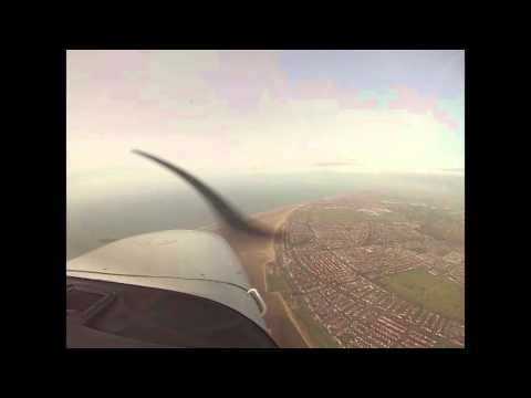 Flight from Barton to the Fylde Coast and Chorley Lakes