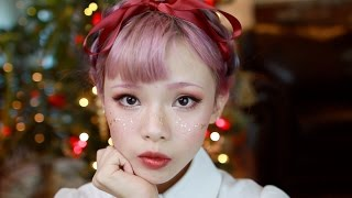 Rust Red Holiday Makeup Tutorial with Gold Flake Freckles ♡ Cruelty Free