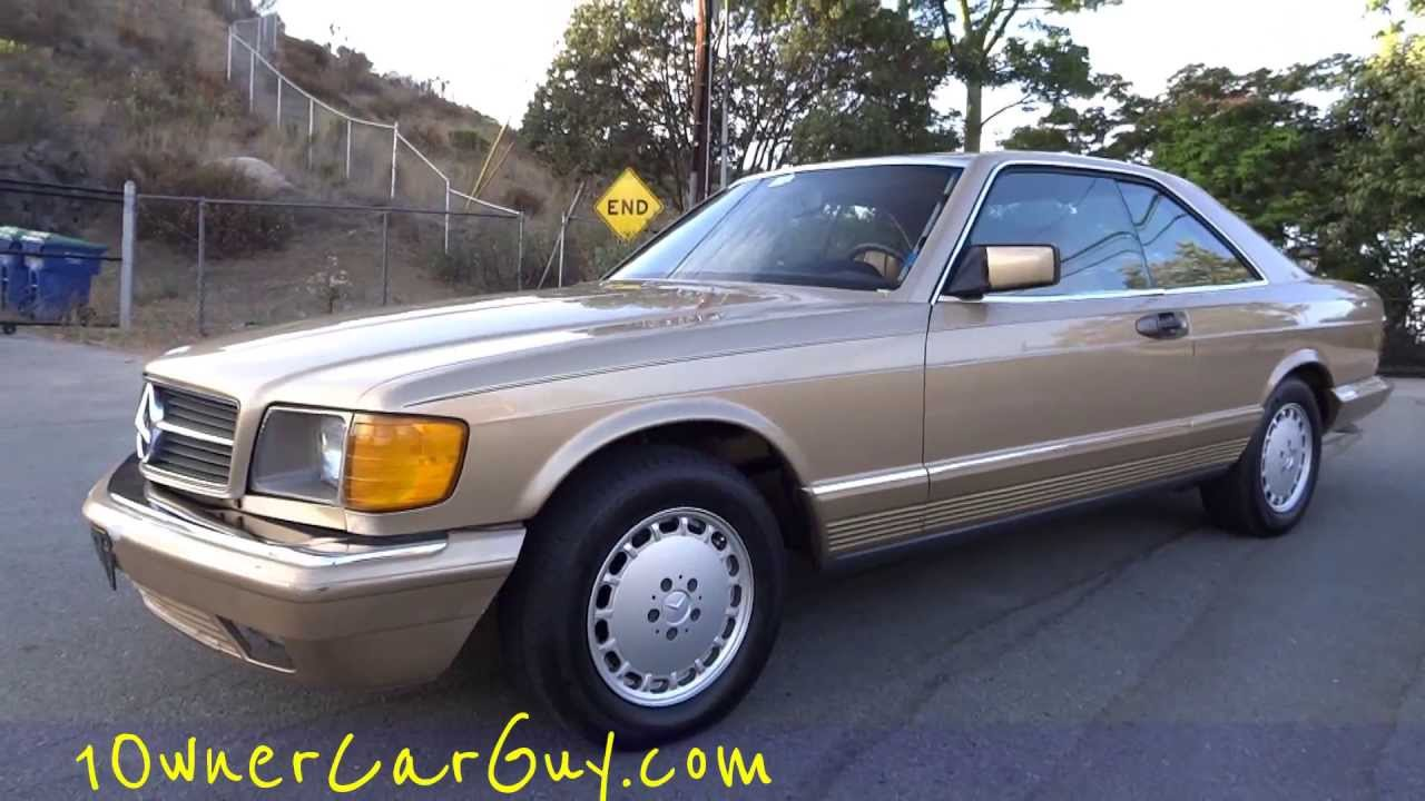 84 Mercedes Benz 500sec W126 Coupe 1 Owner Youngtimer Classic Walk