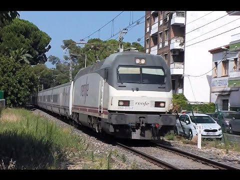Renfe trains in Salou Station, Spain