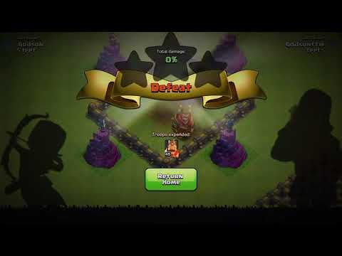 how to play giant vs all trap// in clash of clans base camp