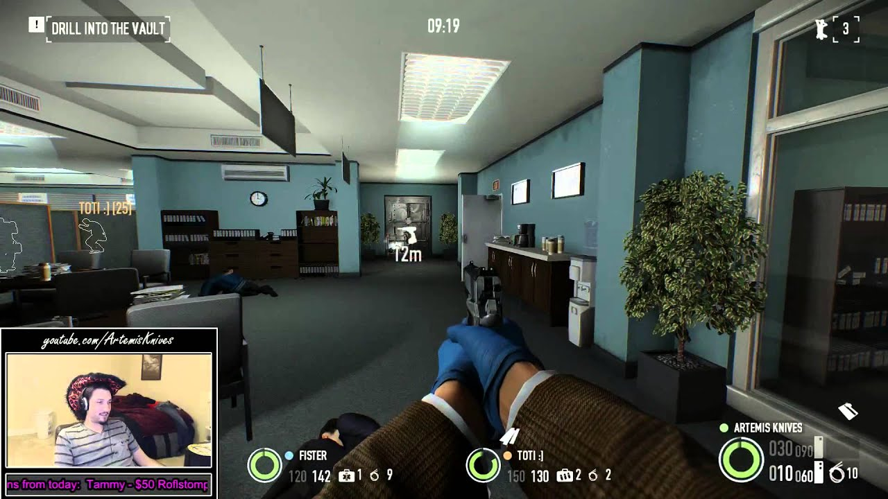 PayDay 2 Epic Fail Bank Heist Stealth
