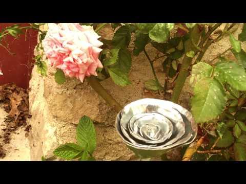 Création d'une rose en zinc