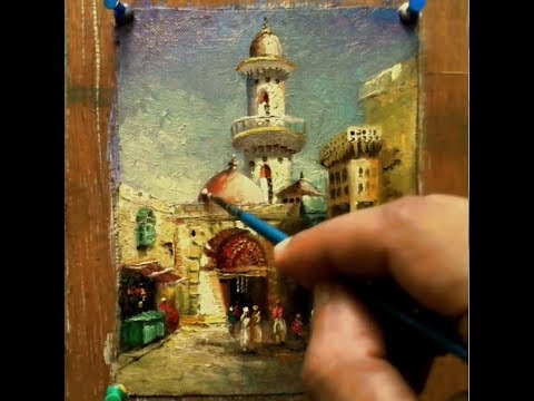 Oil Painting Old Cairo By Yasser Fayad ياسر فياض