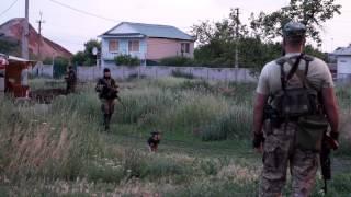 Вечер на линии соприкосновения: Марьинка - Донецк / Near Donetsk between opponents within 200m ©AFP