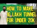 How To Make 10 Lakh Tunnel For Under 20k Rupees | Azad Chaiwala Show