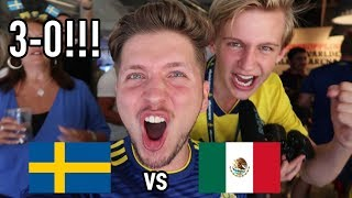REAGERAR LIVE PÅ SVERIGE VS MEXIKO I VM 2018