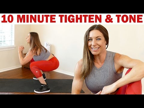 Intense 10 Minute Total Body Workout! Tone & Tighten HIIT Fitness at Home
