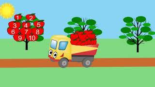 Грузовичок Леша. Учимся считать от 1 до 10. Развивающие мультфильмы для детей.
