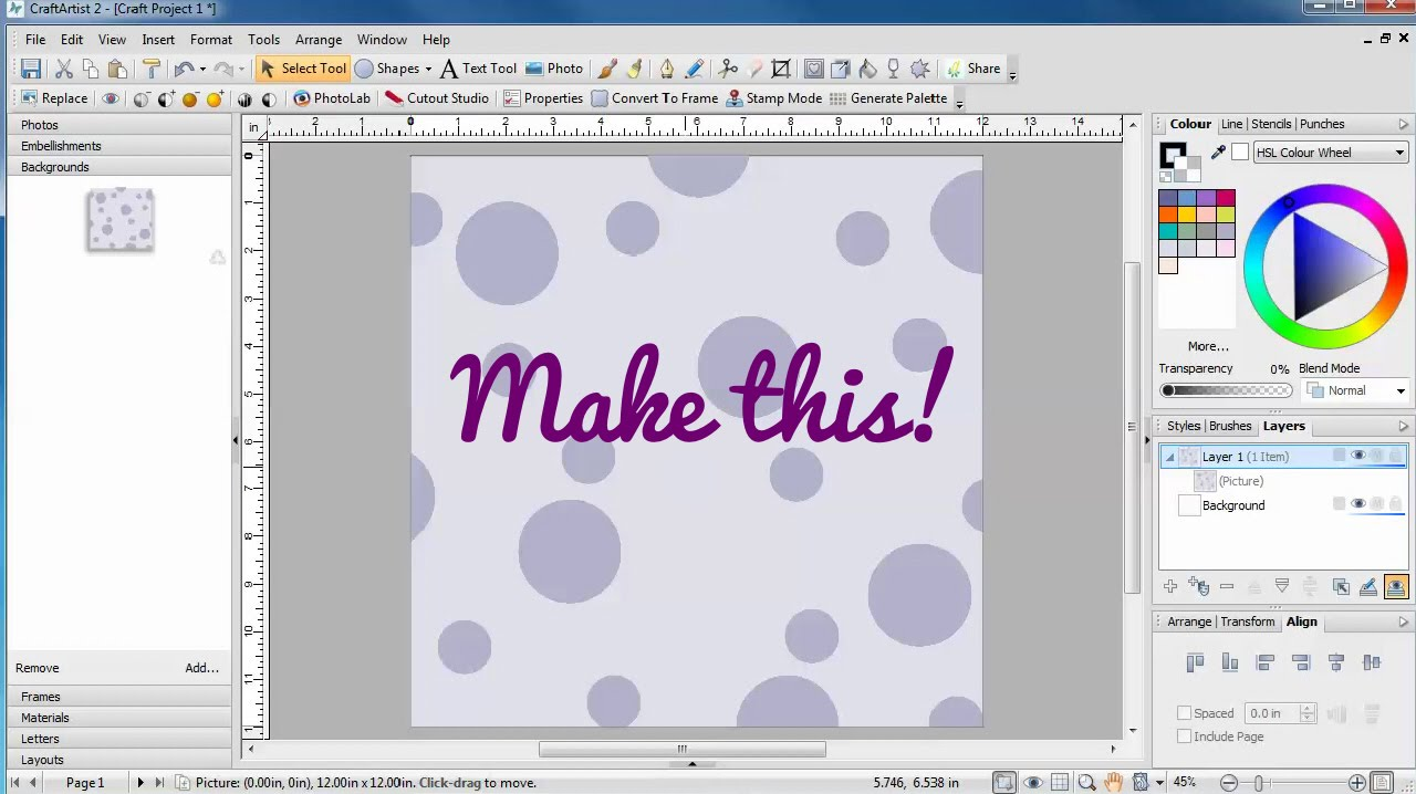 Create your own background papers to craft with youtube for Create your own building