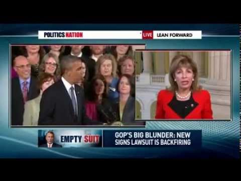 Congresswoman Speier discusses Boehner suing Obama on Al Sharpton