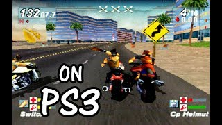 ROAD RASH JAILBREAK Gameplay The Most Funny Games PS1 on PS3