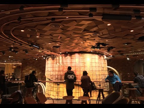 Inside the World's Largest Starbucks  - Shanghai 12.6.17 Opening Day