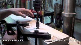 Roubo Workbench With Double Moxon Vise • 6 Of 8 • Final Drilling
