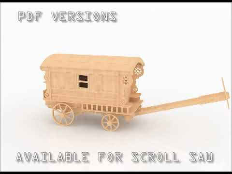 gypsy wagons laser cut dxf plans - youtube
