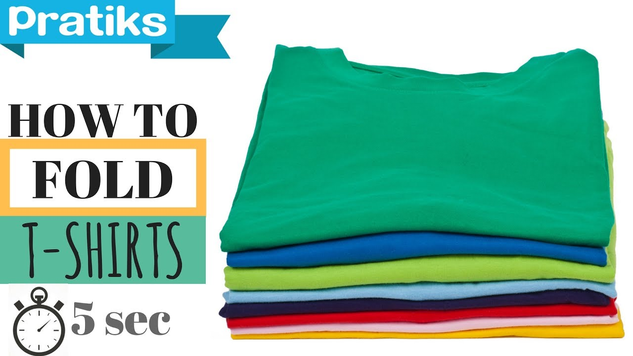 8cc469ab882 How to Fold a T-Shirt In 5 Seconds - YouTube