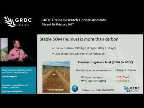 Grains Research Update 2017 | Adelaide | Optimising continuous cropping - J. Kirkegaard