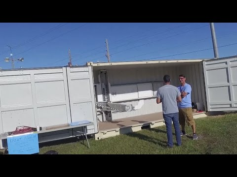 This shipping container is actually a 3D printer