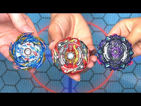 HELIOS VOLCANO vs VARIANT LUCIFER vs WORLD SPRIGGAN | Beyblade Burst Sparking Super King