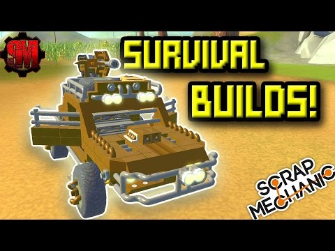Scrap Mechanic Survival Creations! - Scrap Mechanic Workshop Hunters Multiplayer Ep18