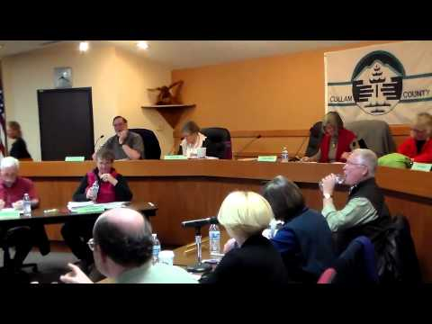 Clallam County Charter Review Commission Meeting with county officials 031615
