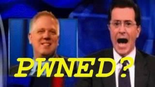Stephen Colbert PWNs Glenn Beck?