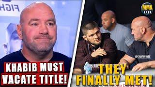 Dana White PROVIDES UPDATE on Khabib vs. GSP, UFC 257 press conference announced, Conor slams Khabib