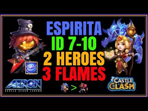 ESPIRITA 2 MAN INSANE DUNGEON 7-10 3 FLAMED - CASTLE CLASH