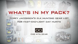 What's In My Pack? — Corey Jacobsen's Elk Hunting Gear List for Fast-and-Light Day Hunts