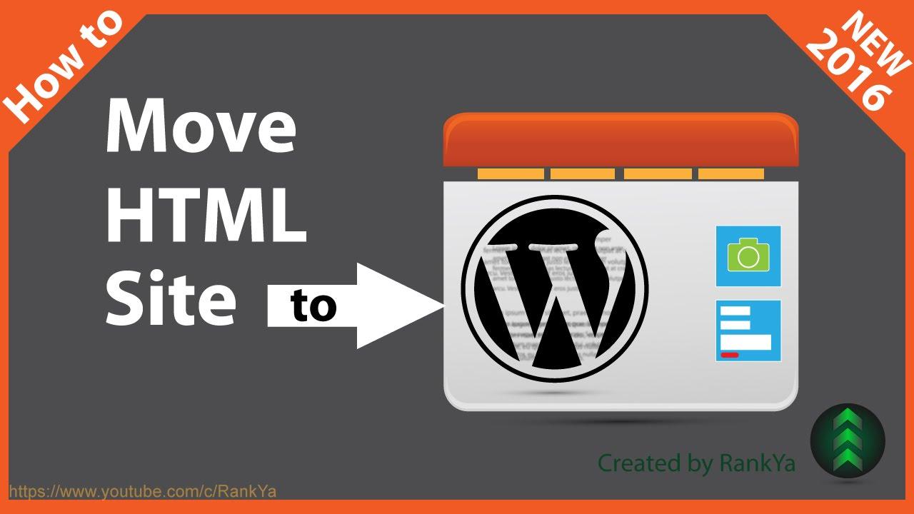 how to add html to wordpress