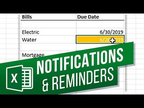 How To Create Notifications Or Reminders In Excel