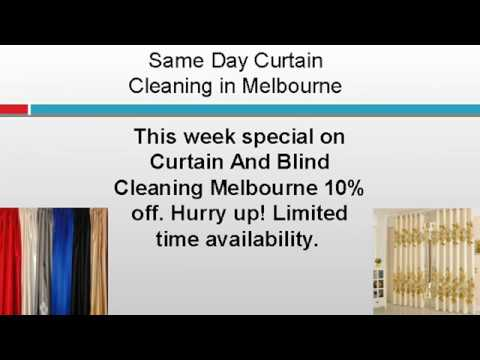 Same Day Curtain Cleaning in Melbourne