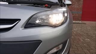 Как поменять лампу ближнего света на Opel Astra J