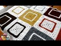 Cluster Granny Square Afghan - Right Handed Crochet Tutorial
