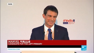 REPLAY   Watch former PM Manuel Valls' speech ahead of French Left Primary 2nd round