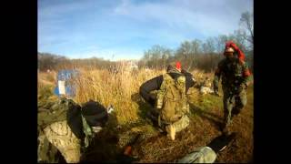 OXCC Battle of the Bulge Airsoft Action (HeadCam) - Squad Advance