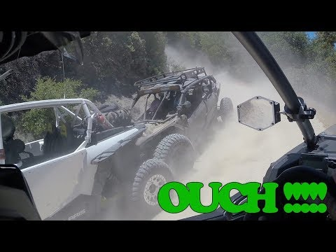 RZR Turbo trail ride Silverwood Lake : Can Am crashes into the back of a RZR...
