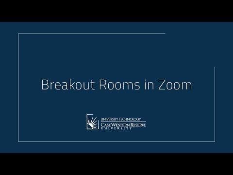 Breakout Rooms In Zoom
