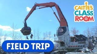 Check Out This Giant Magnet! | Caitie's Classroom | Construction Vehicles For Kids