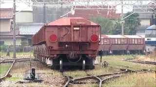 [HD]西濃鉄道 市橋線DD402号機牽引石灰石貨物列車(赤ホキ)美濃赤坂到着→車庫入庫