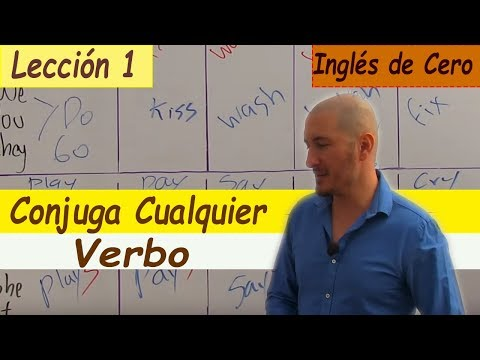 Cómo Conjugar CUALQUIER VERBO En Inglés ,PRESENTE SIMPLE ,FÁCIL LECCIÓN 1