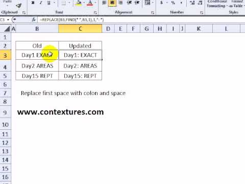 Change Text with Excel REPLACE Function - YouTube
