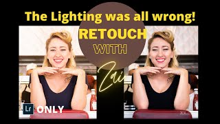 The lighting was all wrong| Retouching using only Lightroom