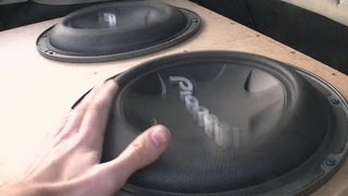 x2 Pioneer TS-W3004SPL GETTING LOUD!! 142db+ subwoofers thumbnail