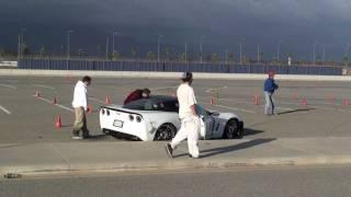 Corvette Crashes During An AutoCross Event