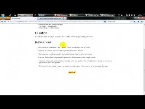 oDesk Search Engine Optimization Test Answers 2013 2014