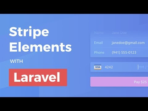 Stripe Elements with Laravel (and Vue) - YouTube